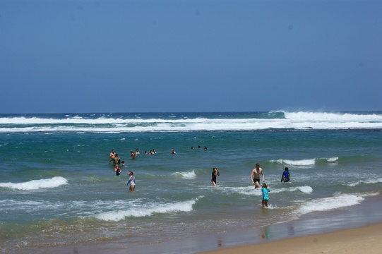 Cape Vidal beach, one of the top beaches in the world, protected by a reef. iSimangaliso wetlands park