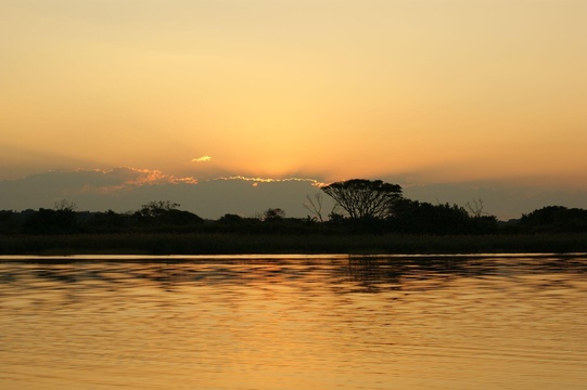 Sunset over St Lucia Estuary